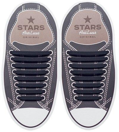 Косые силиконовые шнурки (антишнурки) для кроссовок и кед AntiLaces 68 мм - 38 мм