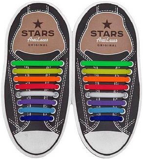 Косые силиконовые шнурки (антишнурки) для кроссовок и кед AntiLaces 68 мм - 38 мм , фото 2