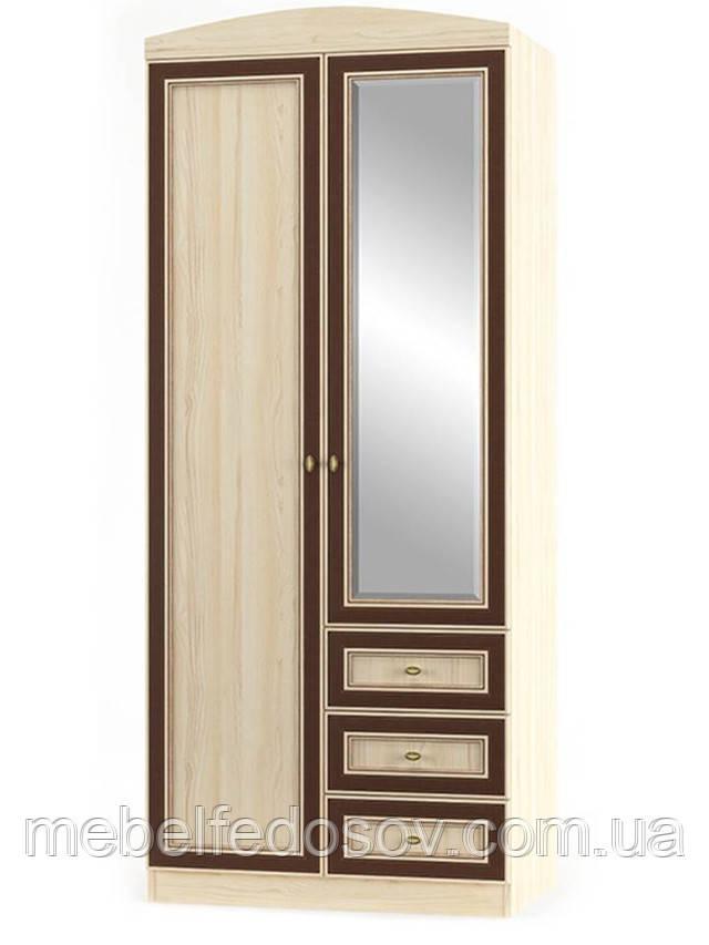Шкаф 2Д + 3Ш Дисней (Мебель-Сервис)  900х565х2180мм дуб светлый