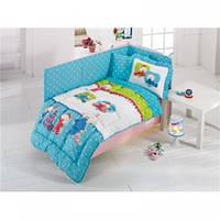 Набор в кроватку для младенцев Kristal Bebis голубой