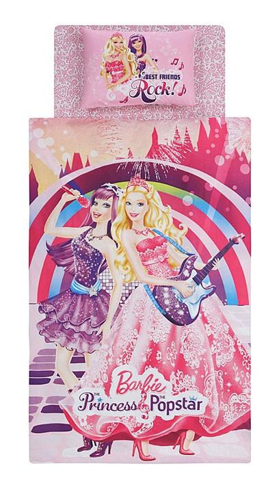 Постельное белье Tac Disney - Barbie Princess Pop Star подростковое