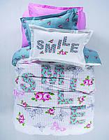 Детское постельное белье Karaca Home - Smile ранфорс подростковое