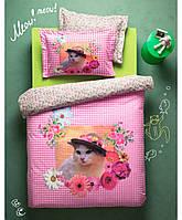 Постельное белье Karaca Home Gatto розовое подростковое