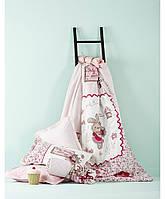 Постельное белье Karaca Home Pink Country розовое подростковое