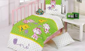 Постельное белье для младенцев Kristal Kedicik зеленое