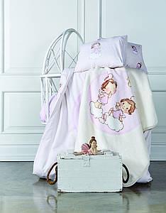 Детское постельное белье для младенцев Karaca Home - Bulut ранфорс
