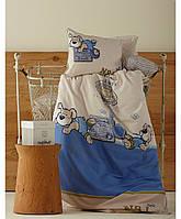 Детское постельное белье для младенцев Karaca Home - Mr. Pati перкаль голубой