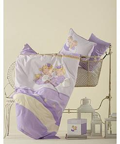 Детское постельное белье для младенцев Karaca Home - Mini перкаль лиловый