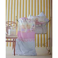 Постельное белье для младенцев Karaca Home Amie розовое перкаль