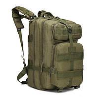 Военный тактический, городской, штурмовой, туристический рюкзак For-Tactic на 45л Зеленый