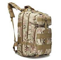 Военный тактический, городской, штурмовой, туристический рюкзак For-Tactic на 45л Зеленый, фото 2