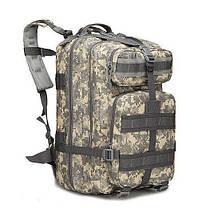 Военный тактический, городской, штурмовой, туристический рюкзак For-Tactic на 45л Зеленый, фото 3