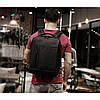 """Стильный городской рюкзак антивор на 20л TIGERNU T-B3269 спортивный , сумка для ноутбука 15,6"""" с USB, Черный, фото 3"""