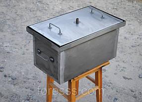 Коптильня с гидрозатвором для горячего копчения (520х300х280)