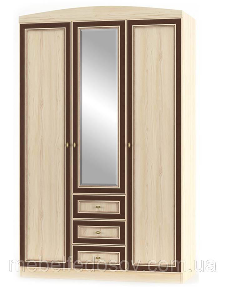 Шкаф 3Д + 3Ш Дисней (Мебель-Сервис)  1348х565х2180мм дуб светлый
