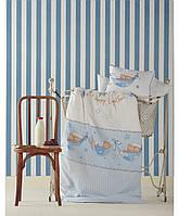 Детский плед в кроватку Karaca Home - Mel белый 100*120