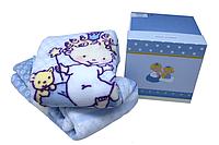 Детский плед в кроватку Karaca Home - Mini голубой 100*120