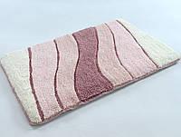 Коврик для ванной Irya Wave розовый 70х120
