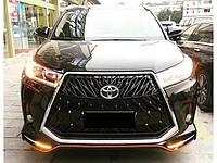 Тюнинг бампер Toyota Highlander 2014+ г.в. в стиле Lexus