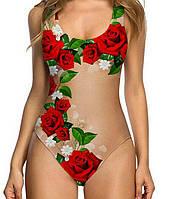 Женский прелестный 3D-купальник с ярким принтом LA09274350