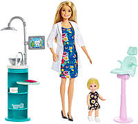 Набор кукла Барби стоматолог с аксессуарами и мебелью FXP16 (Barbie Dentist Doll), фото 1
