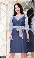 Женское стильное летнее джинсовое платье, платье летнее ,платья приталенные короткие