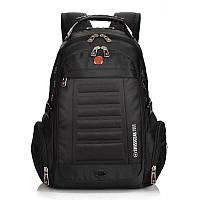 Городской рюкзак SWISSWINSWISSGEAR 8826 для ноутбука с USB + Подарок (чехол-дождевик)