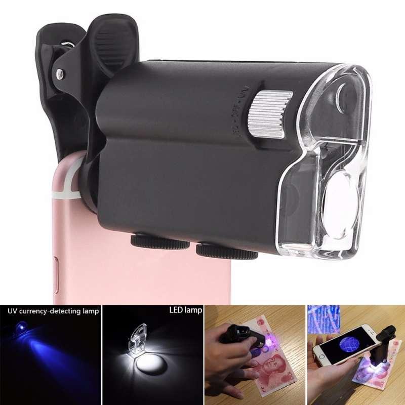 Портативный микроскоп оптический 60Х-100Х для смартфона. Карманный микроскоп