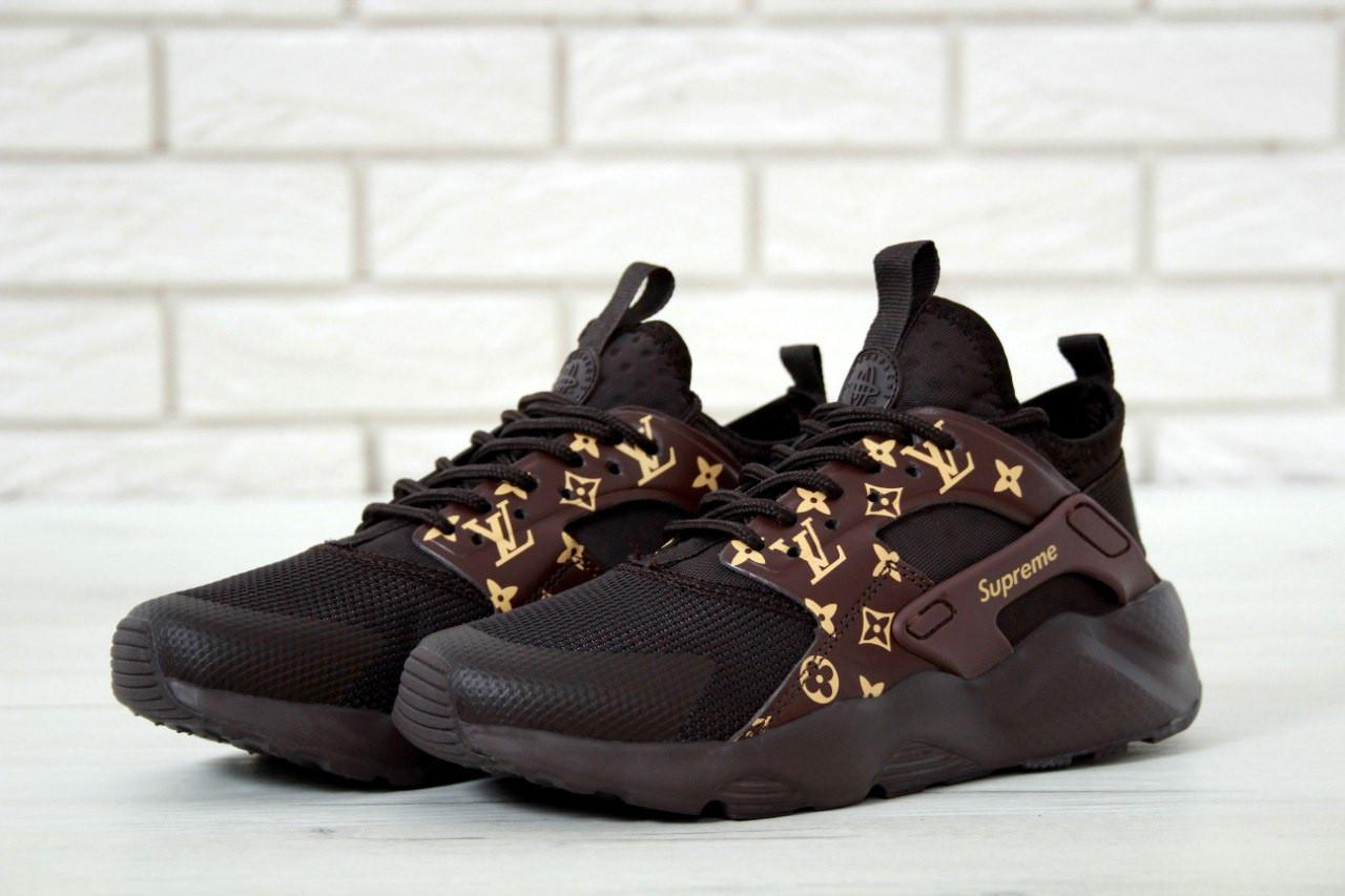 9cac9f02 Женские Кроссовки Nike Air Huarache Ultra Supreme x Louis Vuitton Найк  Хуараче Суприм (реплика)