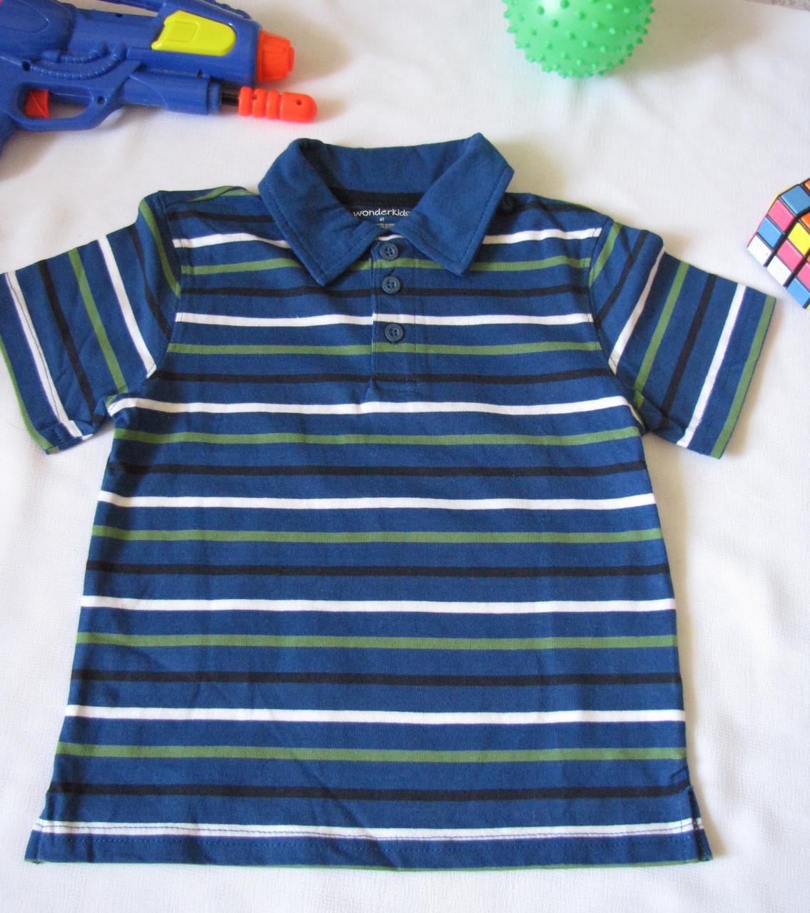 Футболка поло Wonder Kids оригинал рост 110 см синяя 07123/02