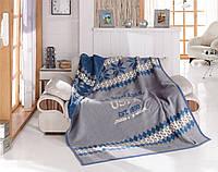 Плед хлопковый U.S.Polo Assn - Pocatello серый 200х220 евро