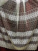 Тюль с турецкой вышивкой