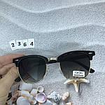 Модные черные очки с золотой оправой, фото 4