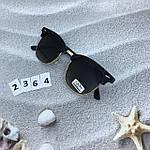 Модные черные очки с золотой оправой, фото 2