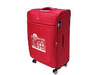 Легкий тканевый чемодан большого размера на 4-х кол. Airtex 6522 (красный)