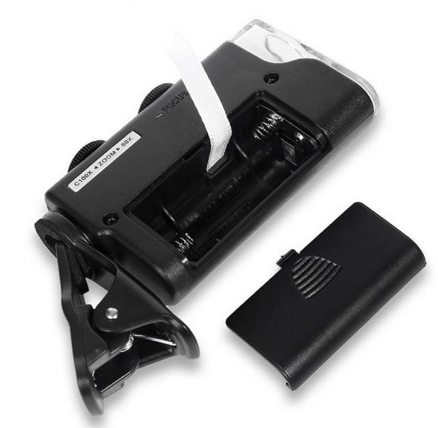 Портативный микроскоп оптический 60Х-100Х
