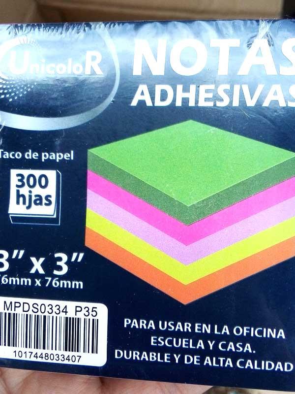Стикеры (бумага с липким слоем) 76х76мм MIX 300л Р35 (12-13)