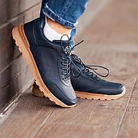 Мужские кроссовки South Apache navy, кожаные мужские классические кроссовки