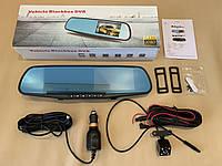 2 камеры BLACKBOX DVR 4.3 Видеорегистратор зеркало+Камера заднего вида Full HD