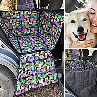 Автогамак мини, на 1/2 сидений, защитный чехол с бортами для перевозки собак в машине, DOX Mini Matrix