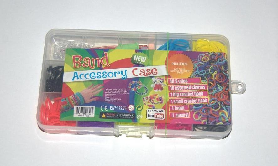 Набор резиночек для плетения Rainbow Loom bands из 12 цветов 500шт.
