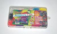 Набор резиночек для плетения Rainbow Loom bands из 12 цветов 500шт., фото 1