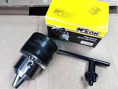 Патрон для дриля з ключем 1,5-13мм WE110015 Werk