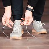 Мужские кроссовки South Apache Dk.Gray, кожаные мужские классические кроссовки , фото 4