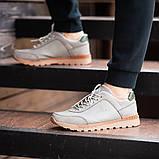Мужские кроссовки South Apache Dk.Gray, кожаные мужские классические кроссовки , фото 6