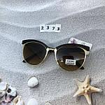 Модные очки с коричневыми линзами и коричневой оправой, фото 4