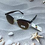 Модные очки с коричневыми линзами и коричневой оправой, фото 5