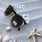 Модные очки с коричневыми линзами и коричневой оправой, фото 7