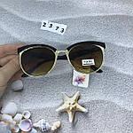 Модные очки с коричневыми линзами и коричневой оправой, фото 6