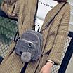 Рюкзак женский мини сумка трансформер маленький замшевый бартахный вельветовый коричневый песочный, фото 8